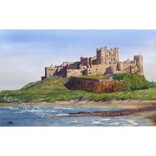Bamburgh Castle, Original Watercolour Painting