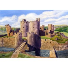 Carephilly Castle, Original Watercolour Painting