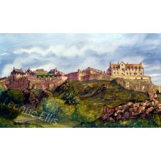 Edinburgh Castle, Original Watercolour Painting