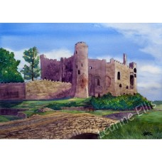 Laugharne Castle, Original Watercolour Painting