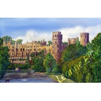 Warwick Castle, Original Watercolour Painting